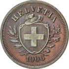 Switzerland / One Centime (Rappen) 1906 - obverse photo