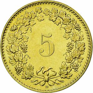 Switzerland / Five Centimes (Rappen) 2009 - reverse photo