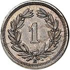 Switzerland / One Centime (Rappen) 1853 - reverse photo