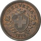 Switzerland / One Centime (Rappen) 1876 - obverse photo