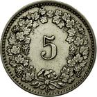 Switzerland / Five Centimes (Rappen) 1911 - reverse photo