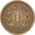 Switzerland / One Centime (Rappen) 1937 - reverse photo