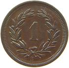 Switzerland / One Centime (Rappen) 1887 - reverse photo
