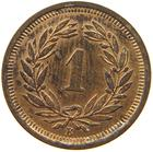 Switzerland / One Centime (Rappen) 1917 - reverse photo