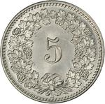 Switzerland / Five Centimes (Rappen) 1893 - reverse photo