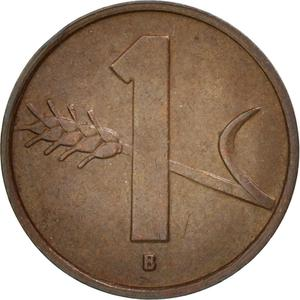 Switzerland / One Centime (Rappen) 1951 - reverse photo
