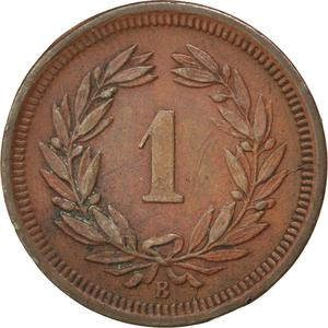 Switzerland / One Centime (Rappen) 1890 - reverse photo
