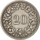Switzerland / Twenty Centimes (Rappen) 1887 - reverse photo