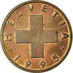 Switzerland / One Centime (Rappen) 1995 - obverse photo