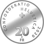 Switzerland / Twenty Francs 2020 Roger Federer / Brilliant Uncirculated - obverse photo