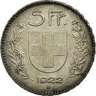 Switzerland / Five Francs 1922 - reverse photo