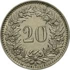 Switzerland / Twenty Centimes (Rappen) 1944 - reverse photo