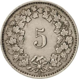 Switzerland / Five Centimes (Rappen) 1930 - reverse photo