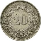 Switzerland / Twenty Centimes (Rappen) 1954 - reverse photo