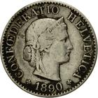 Switzerland / Five Centimes (Rappen) 1890 - obverse photo