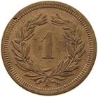 Switzerland / One Centime (Rappen) 1850 - reverse photo