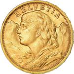 Switzerland / Twenty Francs 1907 - obverse photo