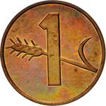 Switzerland / One Centime (Rappen) 1974 - reverse photo