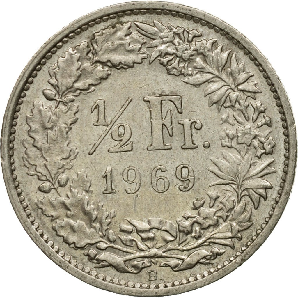 Half Franc 1969: Photo Coin, Switzerland, 1/2 Franc, 1969