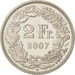 Switzerland / Two Francs 2007 - reverse photo
