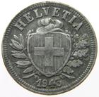 Switzerland / Two Centimes (Rappen) 1943 - obverse photo