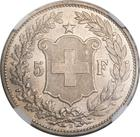 Switzerland / Five Francs 1894 - reverse photo