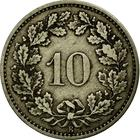 Switzerland / Ten Centimes (Rappen) 1876 - reverse photo