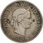 Switzerland / Ten Centimes (Rappen) 1885 - obverse photo