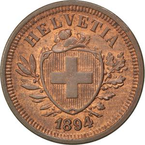 Switzerland / One Centime (Rappen) 1894 - obverse photo