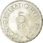 Switzerland / Five Francs 1963 Red Cross - reverse photo
