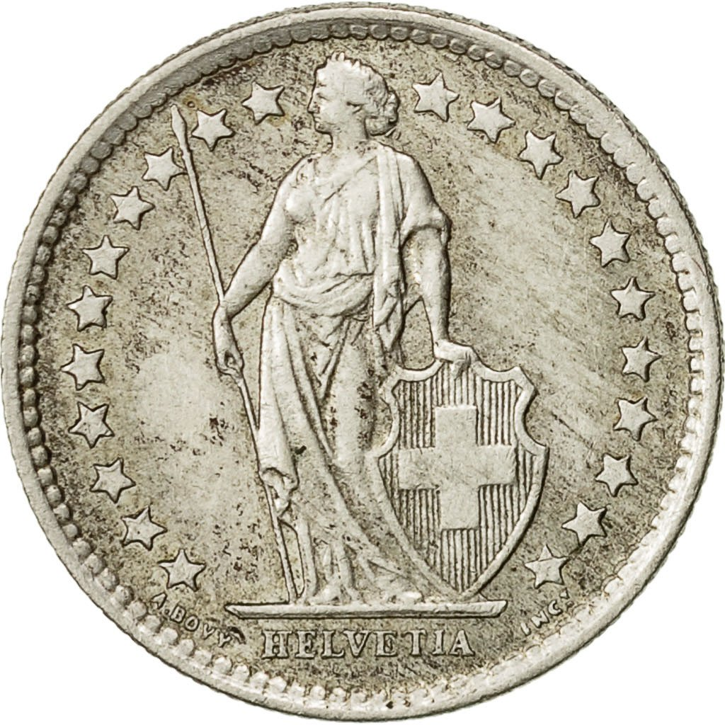Half Franc 1959: Photo Coin, Switzerland, 1/2 Franc, 1959
