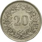 Switzerland / Twenty Centimes (Rappen) 1969 - reverse photo