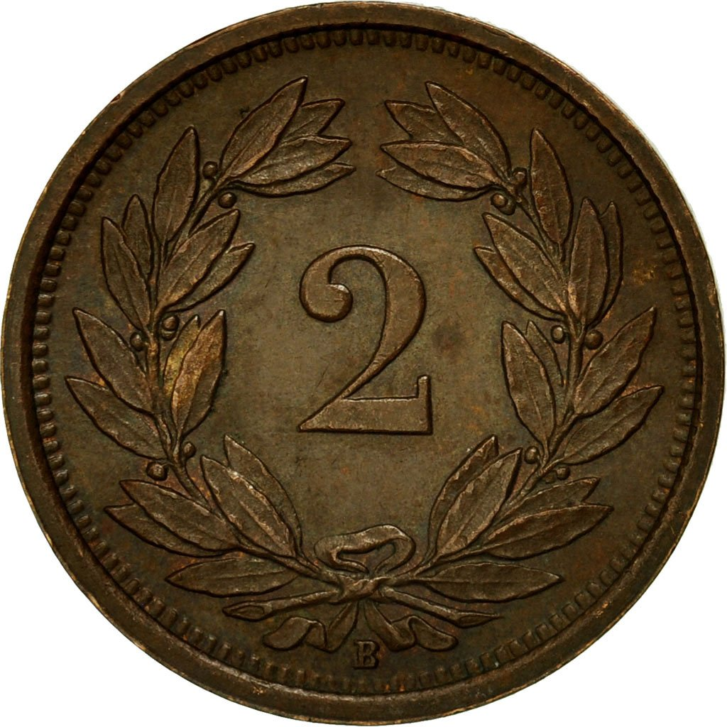 Two Centimes (Rappen) 1938: Photo Coin, Switzerland, 2 Rappen 1938