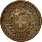 Switzerland / One Centime (Rappen) 1938 - obverse photo