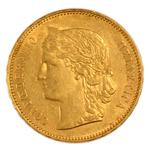 Switzerland / Twenty Francs 1891 - obverse photo