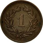 Switzerland / One Centime (Rappen) 1941 - reverse photo