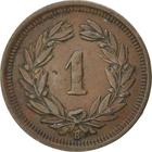 Switzerland / One Centime (Rappen) 1911 - reverse photo
