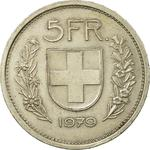 Switzerland / Five Francs 1979 - reverse photo