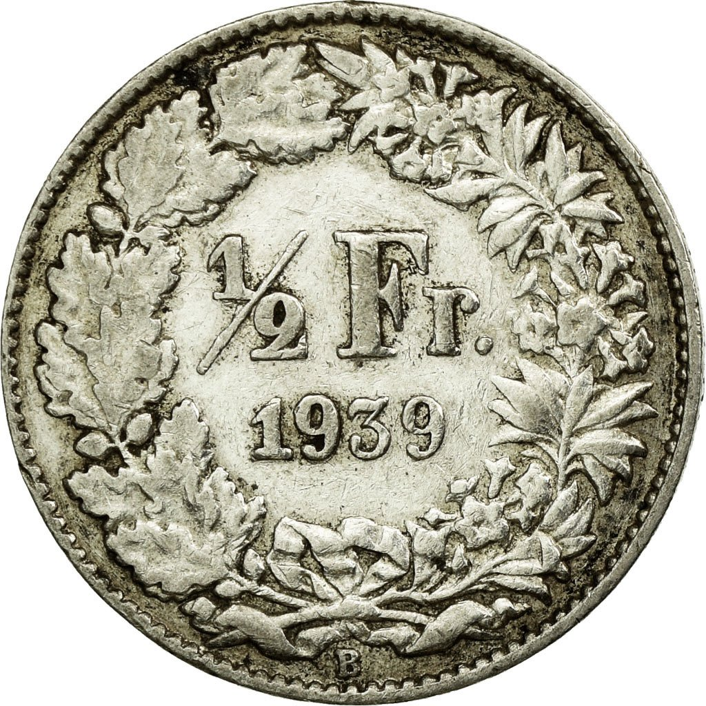 Half Franc 1939: Photo Coin, Switzerland, 1/2 Franc, 1939