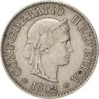 Switzerland / Five Centimes (Rappen) 1902 - obverse photo