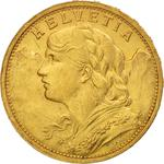 Switzerland / Twenty Francs 1898 - obverse photo