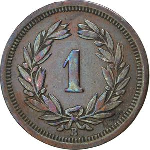 Switzerland / One Centime (Rappen) 1898 - reverse photo