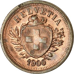Switzerland / One Centime (Rappen) 1900 - obverse photo