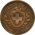 Switzerland / One Centime (Rappen) 1872 - obverse photo