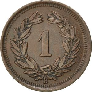 Switzerland / One Centime (Rappen) 1909 - reverse photo