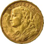 Switzerland / Twenty Francs 1901 - obverse photo