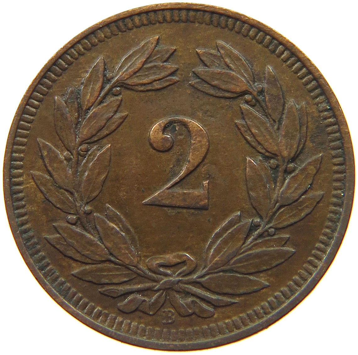 Two Centimes (Rappen) 1918: Photo Switzerland 2 Rappen 1918