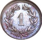 Switzerland / One Centime (Rappen) 1864 - reverse photo