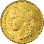 Switzerland / Twenty Francs 1893 - obverse photo
