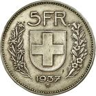 Switzerland / Five Francs 1937 - reverse photo